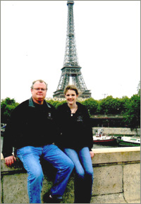 Lindsey in Paris with her family