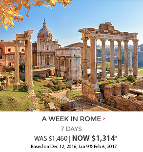 A Week in Rome - now $1,314*