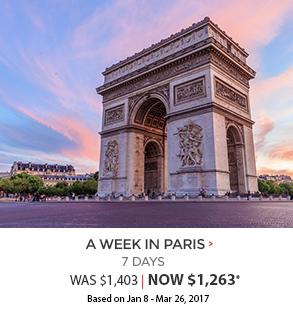 A Week in Paris - now $1,314*