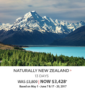 Naturally New Zealand - 13 days now $3,428*