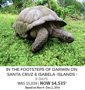 In the Footsteps of Darwin - 9 days now $4,535*