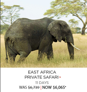 East Africa Private Safari - 11 days now $6,065*